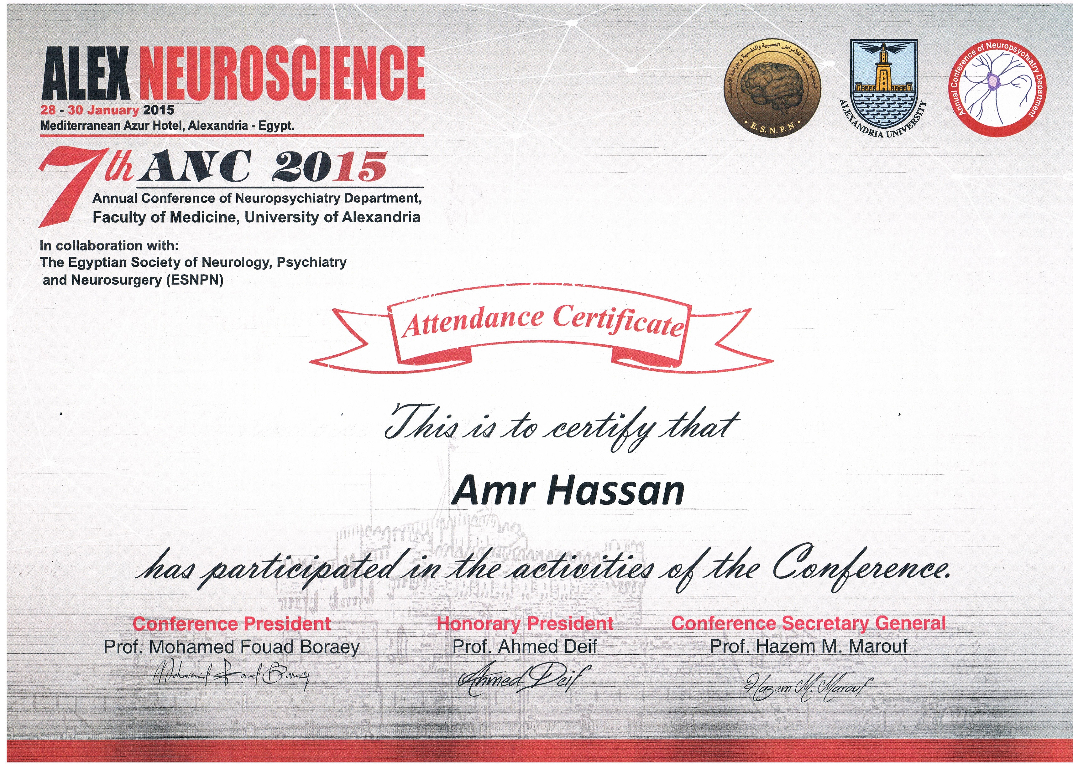 neuropsychiatry neuroscience January 2015