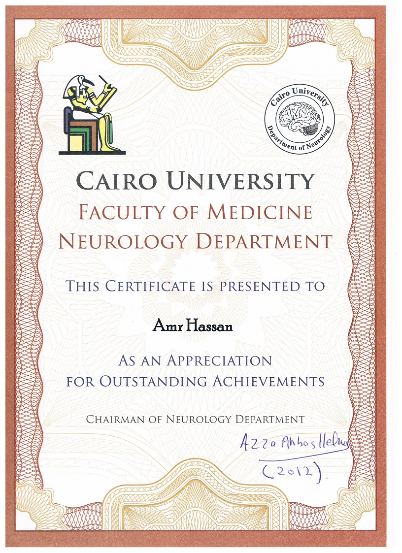 Cairo Egypt neurologist Medical Amr